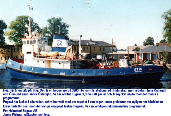 STIG bogserbåt från Halmstad 3200 hkr
